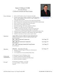 Real Estate Resume For New Agents Real Estate Agent Resume