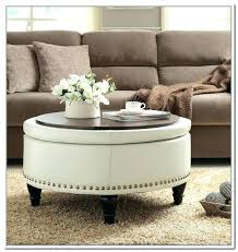 round leather ottoman coffee table. Cream Ottoman Coffee Table Round Leather Storage With .
