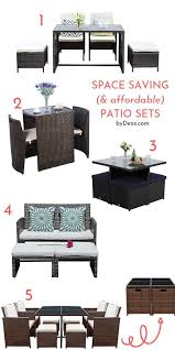 5 affordable space saving patio sets