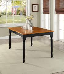 Farmhouse Dining Table Autumn Lane Black Oak Traditional Style Classic Legs  Home