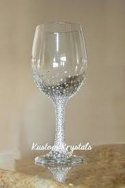 swarovski wine glass crystal embellished wine glass grant design perfect for brides bridesmaids swarovski wine glasses