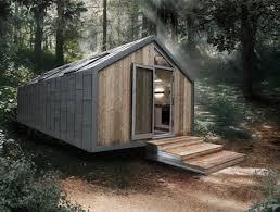 Minimalist log cabin