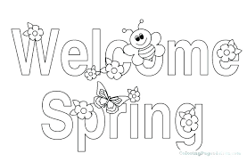Spring Coloring Pages Pinterest Littapescom