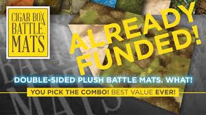 We produce world class battle mats! Double Sided Plush Terrain Mats By Cigar Box Battle Mats By Cigar Box Battle Kickstarter