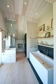 wood ceiling in bathroom beautiful bathroom with shelving wood ceiling in bathroom