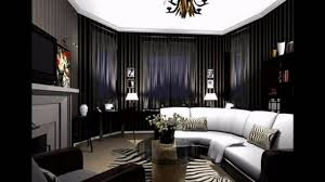 ... Simple Gothic Home Decor Dark And White Sofas And Gray Floor With Round  Table ...
