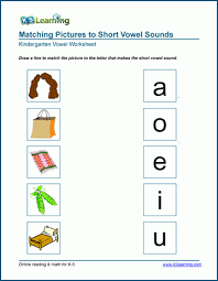 Short vowels 168,773 plays k, grade 1, 2 (1382) short vowels. Matching Short Vowel Worksheets For Preschool And Kindergarten K5 Learning
