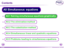 a5 1 solving simultaneous equations graphically