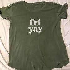 aerie soft workout tee friyay army green m