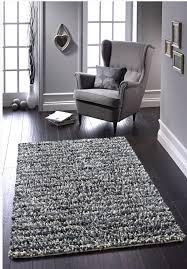 rocks gy jellybean rug handmade felted wool grey cream black 80 x 150cm