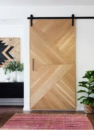 interior sliding door hardware. Beautiful Interior Geometric Wooden Barn Door Intended Interior Sliding Hardware