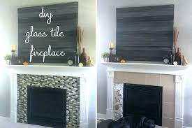 glass tile fireplace white glass tile fireplace black fireplace tiles glass tile fireplace black and white
