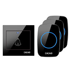 <b>CACAZI Wireless</b> Waterproof Doorbell <b>Smart</b> Transmitter EU Plug ...