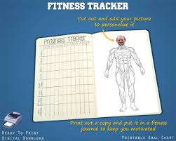 Workout Goal Chart Printable Fitness Goal Tracker Workout Tracker Coloring Muscle Chart Motivational Tracker Letter A4 A5 Paper Sizes