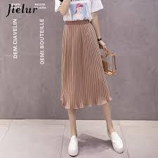 <b>Jielur 6 Colors Korean</b> Fashion Summer Skirt Female Chiffon High ...