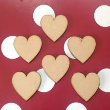 wooden hearts 5cm blank craft shapes x 20