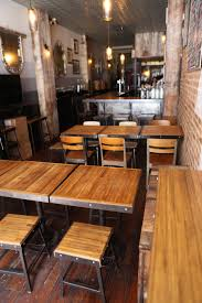 industrial restaurant furniture. Bar, Stools, Tables And Chairs At Black Tree Restaurant Were Designed Made Of Industrial Furniture C