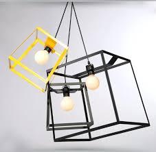light fixture box modern minimalist cube box frame pendant light geometric simple bar counter kitchen ceiling light fixture box
