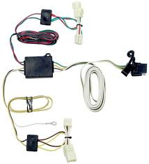 which trailer wiring harness for 2007 toyota highlander etrailer com t one vehicle wiring harness 4 pole flat trailer connector