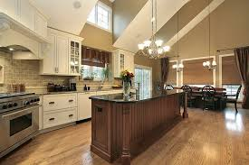 large custom kitchen with long island