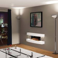 electric wall mounted fireplace suite sightly