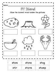 Worksheet for (very) young learners who have just started reading. St Blend Worksheets Practice Beginning St Blend With This Worksheet Set That Includes A Variety Of Activities Blends Worksheets Blends Activities Worksheets