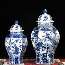 Decorative Jars And Vases Jingdezhen temple jar porcelain ceramic decoration jar Chinese 100