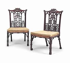 Chippendale Furniture A Pair Of Early George Iii Chinese Chippendale Mahogany Side