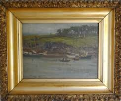 antique panting with old frame  on wall art old picture frames with custom framing antique art framing paintings and prints