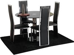 interesting nice table and chairs dining tables room furniture black simple silver set