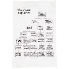 The Cousin Explainer Teatowel Tea Towels Cousins Family
