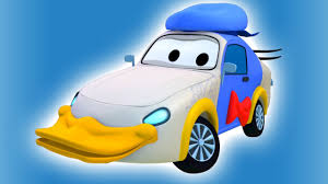 tom the tow truck s paint tyler is donald duck truck cartoons for kids
