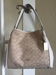 Coach 36466 Signature Edie 31 Shoulder Bag Light Khaki Chalk Lightweight Bag    eBay