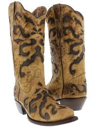 women s enmascarada leather cowgirl boots snip toe