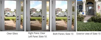 slate 10 creates a one way mirror effect to your glass giving you daytime privacy with a low reflective low glare natural view from the inside