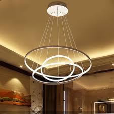 home led lighting. Home Commercial Pendant Lamp 3 / 2 1 Circle Of Aluminum Ring LED Lighting Led