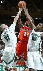 No. 10 Illini Top No. 25 Spartans, 75-68 - University of Illinois Athletics