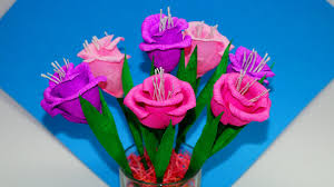 How To Make Paper Flower Bouquet Step By Step Easy Flowers Making How To Make Flower Bouquet Gift Ideas Paper