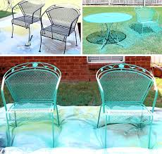spray paint for metal outdoor furniture how to paint a wrought iron patio set with chalk