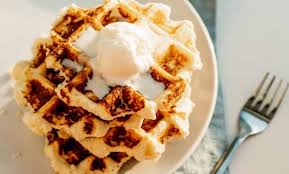 In a separate mixing bowl, whisk together oil, sweetener, eggs, and vanilla extract. Chaffle Recipe Keto Easy With Almond Flour