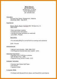 Interesting Design Resume For High School Student First Job High