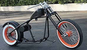 vcw 150 tire bobber rolling chassis custom harley motorcycle