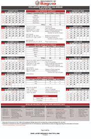Calendar University Of Baguio Official Website