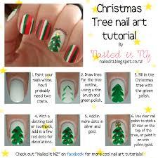 Nail art for short nails #4 - Christmas tree nails + Mosaic nails ...