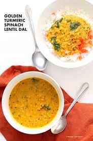 turmeric spinach golden lentil dal red lentil soup easy lentil soup with turmeric and