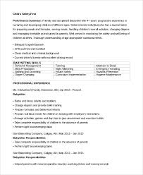 Resumes For Babysitters Sample Babysitter Resume 7 Examples In Word Pdf