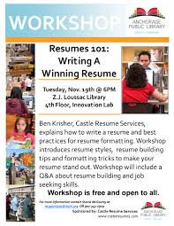 Free Resume Writing Workshop