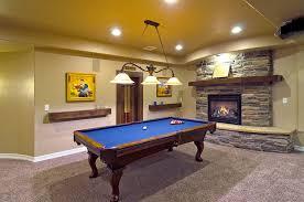 basement pool table. Basement Pool Table And Fireplace F