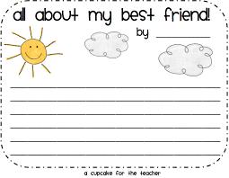 Enemy Pie  Friendship  Writing Activities   Ladybug s Teacher Files Alien and human friendship story ideas