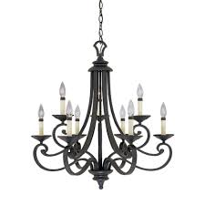 designers fountain monte carlo 9 light hanging natural iron chandelier